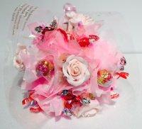 ピンク キャンディーフラワーブーケ